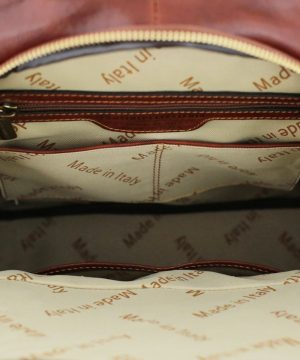 leren rugzak dames sale rood made in italy