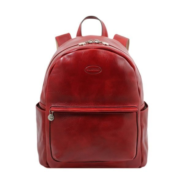 leren rugzak angelico made in italy rood