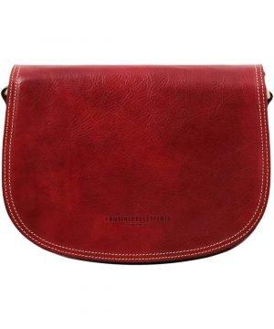 leren handtasje rood tolfa ambachtelijk