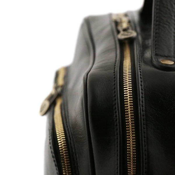 zwart rugzakje dames fantini tuscany made in italy